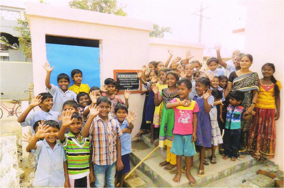 Niños y niñas de Guntur (India).