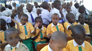 Alumnos de la escuela St. Marie Eugenie Iguguno (Tanzania)